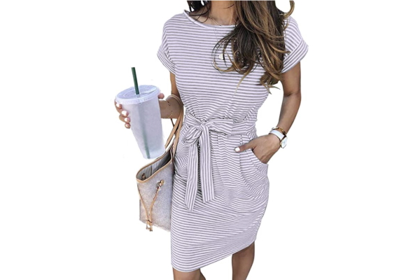 Image of a woman wearing a sundress showing a great gift idea for the woman who wants nothing