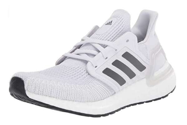 Image of white Adidas Ultraboost sneakers as a last minute Valentines gift idea for her