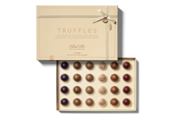 Image of the Ethel M Chocolate Truffle Collection in a premium gift box